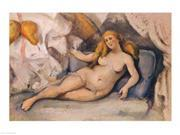 Female Nude on a Sofa Poster Print by Paul Cezanne (24 x 18) 9SIA1S70FX7095