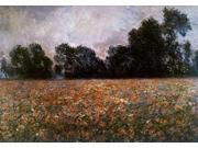 Field of Wild Poppies Poster Print by Claude Monet (20 x 28)