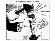 Cartoon World War Ii NCanT Pound It Into His Head American Cartoon By Dr Seuss (Theodor Geisel) For Pm 30 September 1942 On The Importance Of Limiting Consumpti