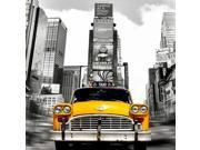 Vintage Taxi in Times Square NYC (detail) Poster Print by Lauren (24 x 24) 9SIA1S76KV6931