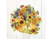Autumn Days II Gold Poster Print by Kathleen Parr McKenna (24 x 24)