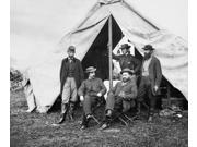 Antietam Officials 1862 Nunion Officials At Antietam Maryland During The American Civil War October 1862 Seated Left To Right War Correspondent William R Moore