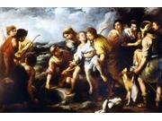 Joseph And His Brethren Nbartolome Esteban Murillo (1617-1682) Oil Poster Print by  (18 x 24)