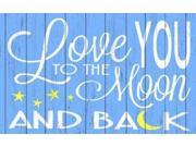 Love You to the Moon - Blue Poster Print by Words For the Soul (24 x 36) 9SIA1S740P8436