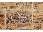 Antique Map of Jerusalem - Color Greek Mosaic Poster Print (18 x 24)