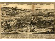 Vorstellung der Bataille d 4 8br 1777 so zwische den Engellandern unter Anfuhrug des General Howe  unweit Germano? Poster Print by Johann Martin Will (18 x 24)