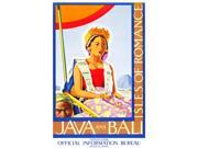 Original travel poster from the 1930s commissioned by the Travelers Official Information Bureau the poster depicts a scene from the exotic Isles of Romance Java 9SIA1S76N58564