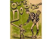 A large striped jacked racquet player holds a cigarette down to a small bal one-third of his size The tiny baseball player has a huge bay slung over his shoulde 9SIA1S76N51579