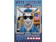 Make it Blue Donkey with Big Ears stands in front of a Teamster Truck marked Local and wears the trademark black glasses Poster Print by Richard Kelly (18 x 24) 9SIA1S76N46340