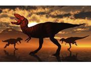 A pack of Tyrannosaurus rex dinosaurs hunting for food Poster Print by Mark StevensonStocktrek Images (18 x 11) 9SIA1S762V4512