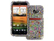 EMPIRE Sprint HTC EVO 4G LTE Full Diamond Bling Hard Case Cover (Silver with Multi Colors) [EMPIRE Packaging]