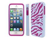 Empire Armor Hot Pink and White Zebra Case for Apple iPhone 5