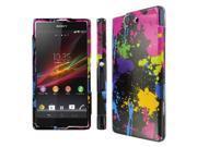 Sony Xperia Z Case, MPERO SNAPZ Series Glossy Case for Sony Xperia Z - Black Paint Splatter