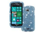 Empire Diamond Bling Case for Samsung ATIV Odyssey I930 - Teal Blue Silver Fade