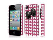 iPhone 4S Case, EMPIRE Signature Series One Piece Slim-Fit Case for Apple iPhone 4 / 4S - Hot Pink Bow-Tique