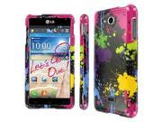 MPERO SNAPZ Series Glossy Case for LG Spirit 4G MS870 - Black Paint Splatter