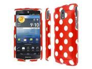 Pantech Discover Case, EMPIRE Full Coverage Red and White Polka Dot Case for Pantech Discover P9090