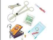 6-piece lip (labret) or monroe piercing starter kit, 14 or 16 gauge,Gauge:14