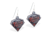 MsPiercing Sterling Silver Earring with offical licensed MLB charms, Minnesota Twins 9SIA1SN0HT8905