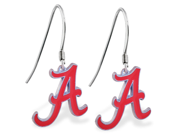 MsPiercing Sterling Silver Earring with offical licensed NCAA charm, University of Alabama Crimson Tide 9SIA1SN0HW2326