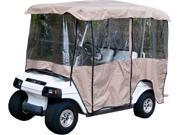 "Tan Golf Cart Enclosure Vinyl Cover - 4 Passenger Carts with 80"" Top"