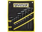 Pedro's Pro T/L Hex Wrench Set 9-Piece Metric Hex Wrench Set With Pouch