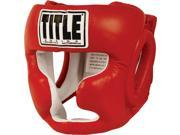 Title Boxing Full Face Training Headgear - Regular - Red