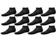 Champion Men's Performance Quarter Ankle Socks 6-Pack  - Black