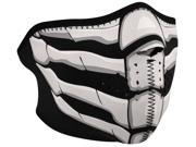 Zan Headgear Neoprene Glow in the Dark Half Mask - Bone Breath 9SIA9C04PG3531