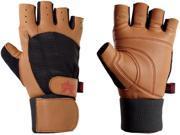 Valeo Ocelot Wrist Wrap Lifting Gloves-Tan-Medium
