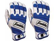 Franklin The Natural II Youth Batting Gloves - Large - Pearl/Royal