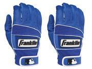 Franklin Adult Neo Classic II Batting Gloves - Medium - Royal/Royal