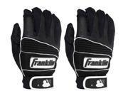 Franklin Adult Neo Classic II Batting Gloves - Medium - Black/Black