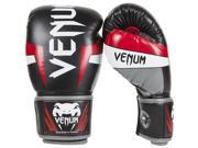 Venum Elite Boxing Gloves 14 oz Black Red Gray