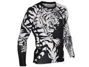 Fuji Moko Tiger Long Sleeve Rashguard - XL - Black/White