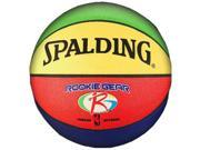 """Spalding Rookie Gear Indoor/Outdoor Composite 27.5"""" Youth Basketball - Multi"""