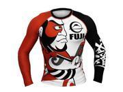 Fuji Sports Sumo Long Sleeve Rashguard - XL - Orange/White
