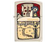 Zippo Guts Cream Matte Pocket Lighter