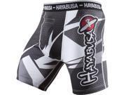 Hayabusa Metaru 47 Silver Compression Shorts - Large - Black/White