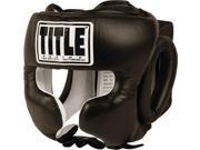 Title Boxing Traditional Training Headgear-Black-Large