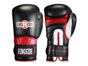 Ringside Hook and Loop Safety Training Gloves 18 oz Black Red