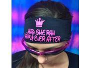 """Hippie Runner """"And She Ran Happily Ever After"""" Headband - Black/Pink"""
