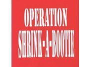 "Hippie Runner ""Operation Shrink-A-Bootie"" Headband - Red/White"
