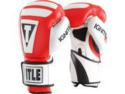 Title Boxing Infused Foam Ignite I-Tech Bag Gloves - 16 oz. - Red/White