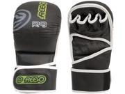 Reevo R9 Gauntlet Hybrid Pro Leather MMA Gloves L XL Black