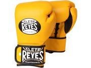 Cleto Reyes Lace Up Hook and Loop Hybrid Boxing Gloves XS Yellow
