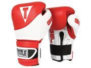 Title Boxing Gel Suspense Training Gloves - 18 oz - Red/White