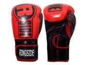 Ringside Apex Flash Hook and Loop Sparring Boxing Gloves 14 oz. Red Black