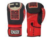 Ringside Apex Flash Hook and Loop Sparring Boxing Gloves 14 oz. Black Red