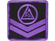 Gracie Jiu Jitsu Adult Chevron 4 x 4 Embroidered Backpack Patch Purple